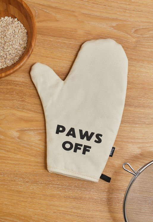 Paws Off Oven Mitt