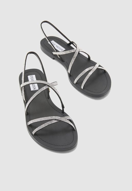 Rita Multi Cross Sandal - Black