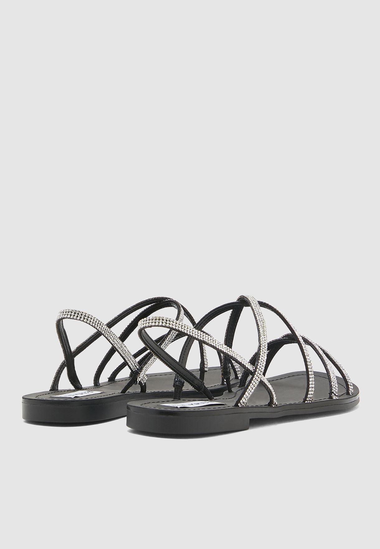 Rita Multi Cross Sandal - Black