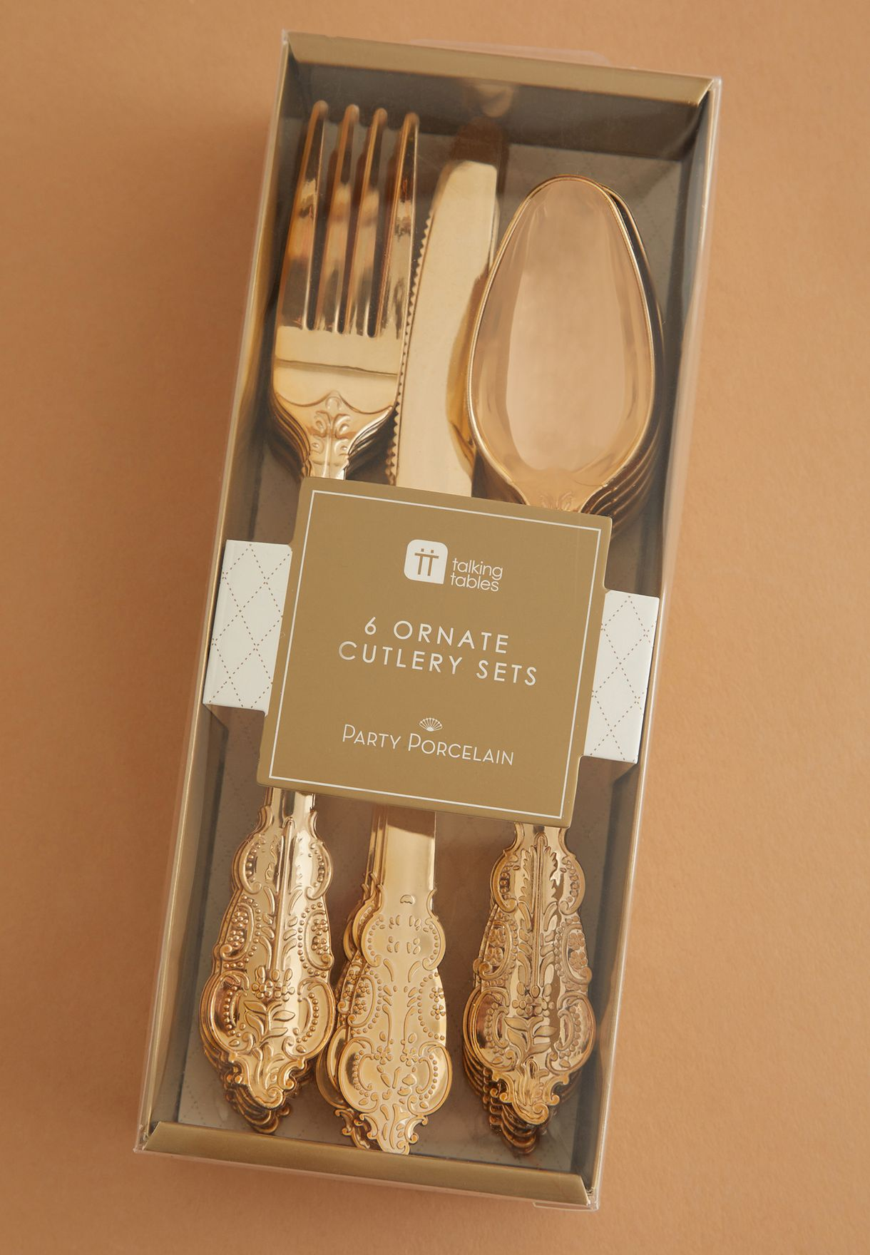 Party Cutlery Gold