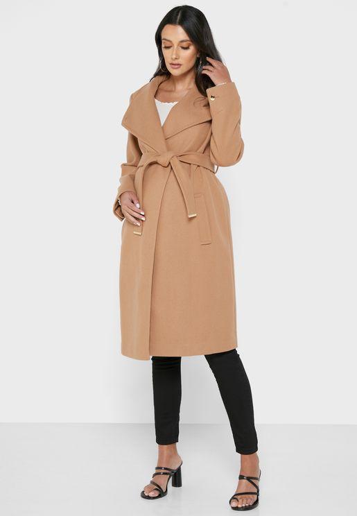 Longline Tie Waist Coat