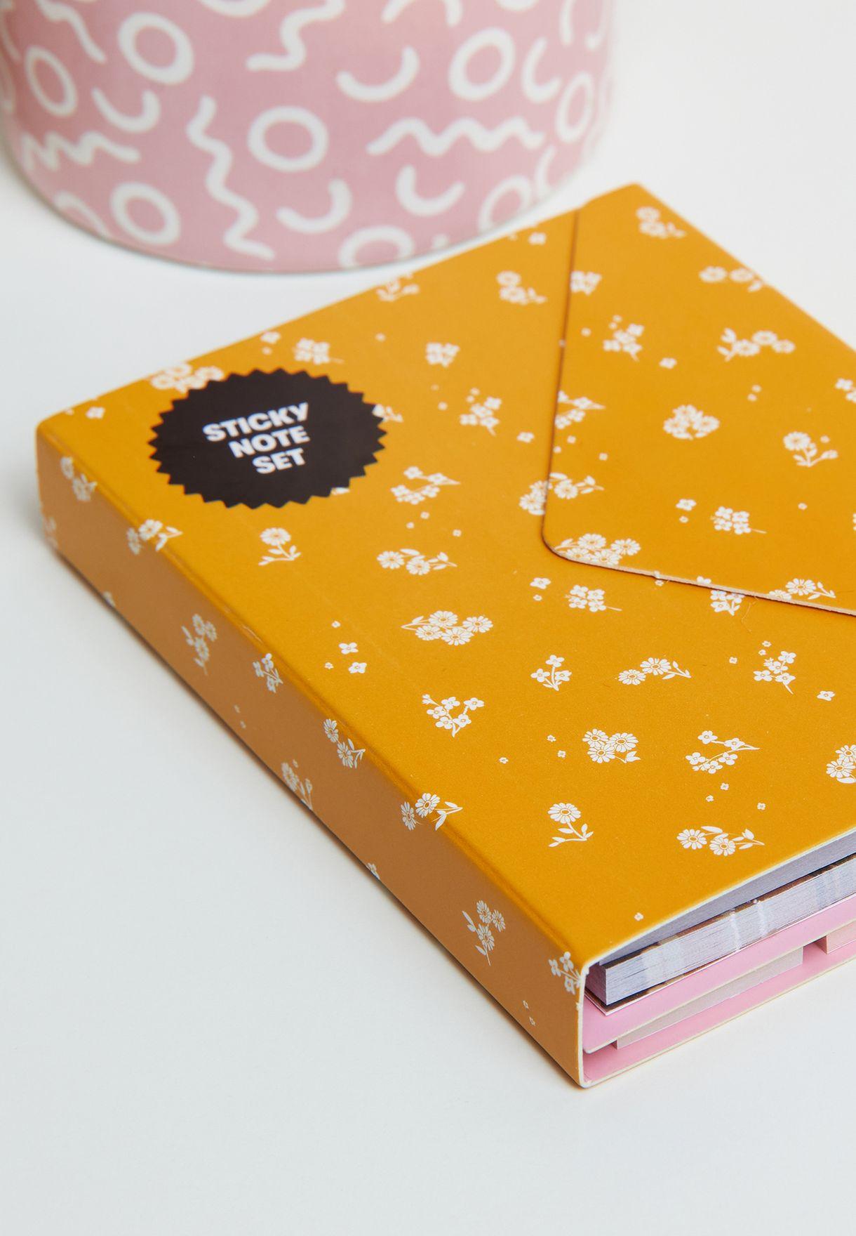 Dottie Floral Pocket Sticky Note Set