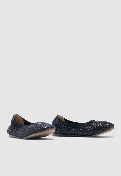 حذاء باليرينا براق للاطفال