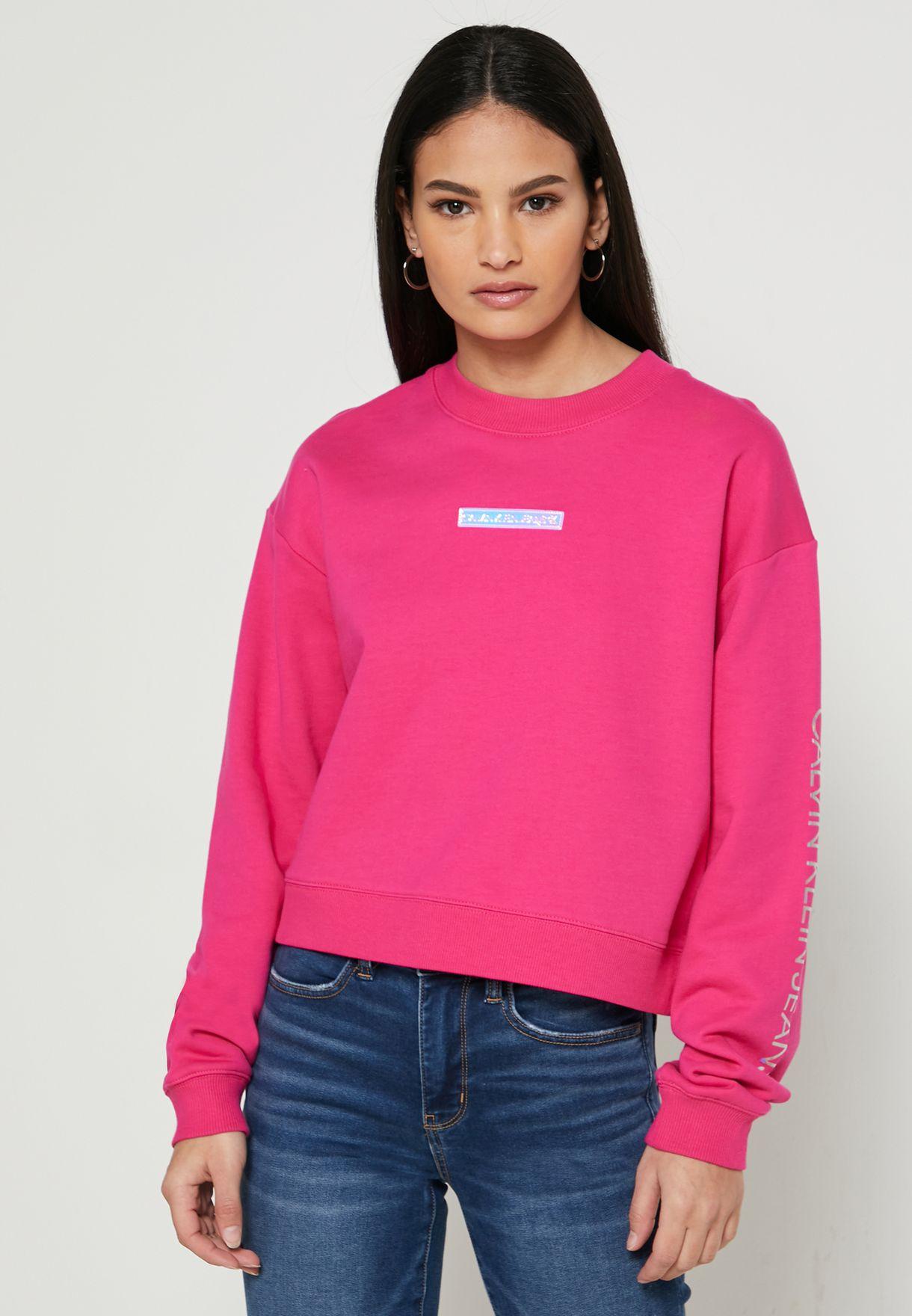 Crew Neck Crop Sweatshirt