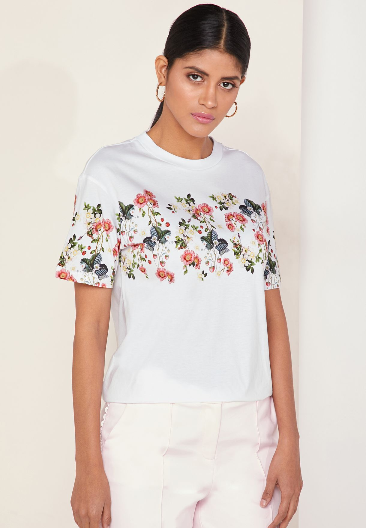 080f91362 Shop Ted baker prints Oracle Floral Print T-Shirt 154909 for Women ...