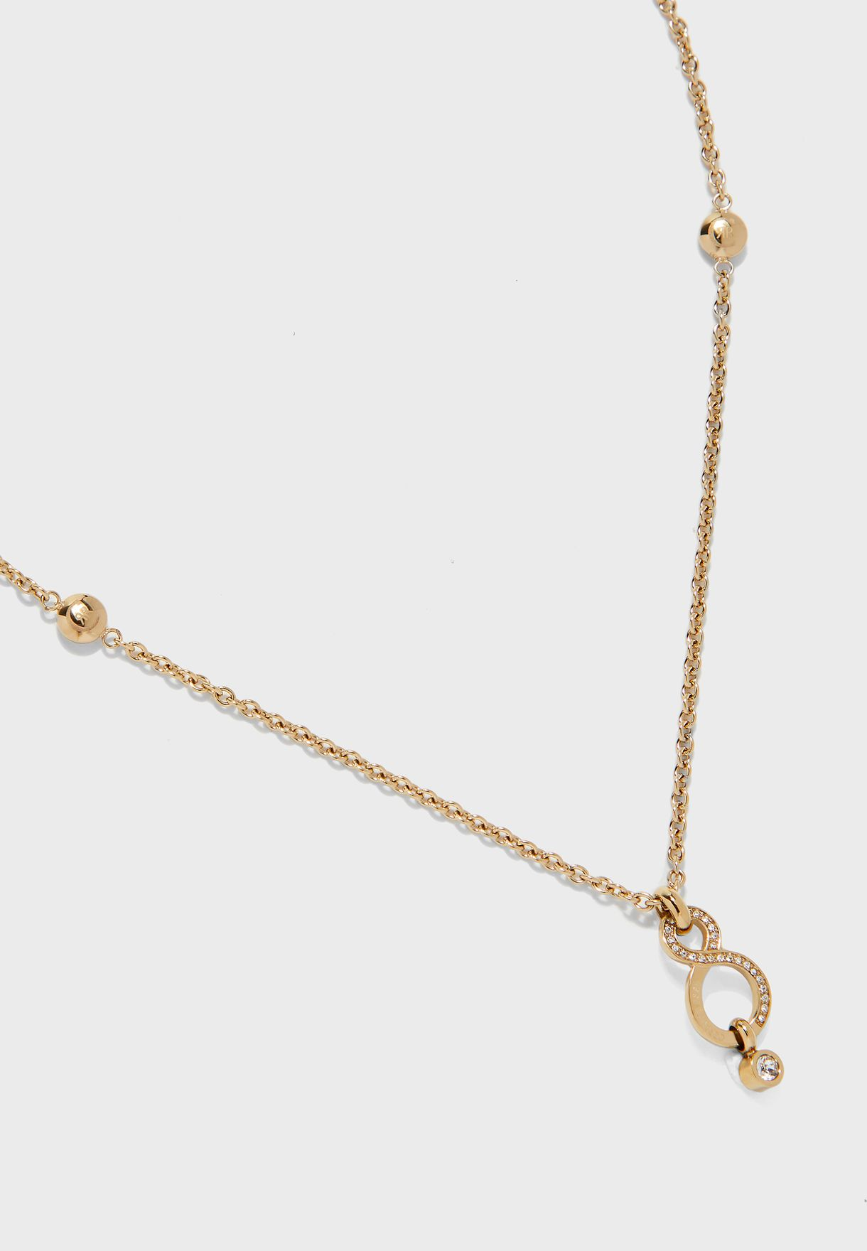 Infinity Style Stone Detail Necklace