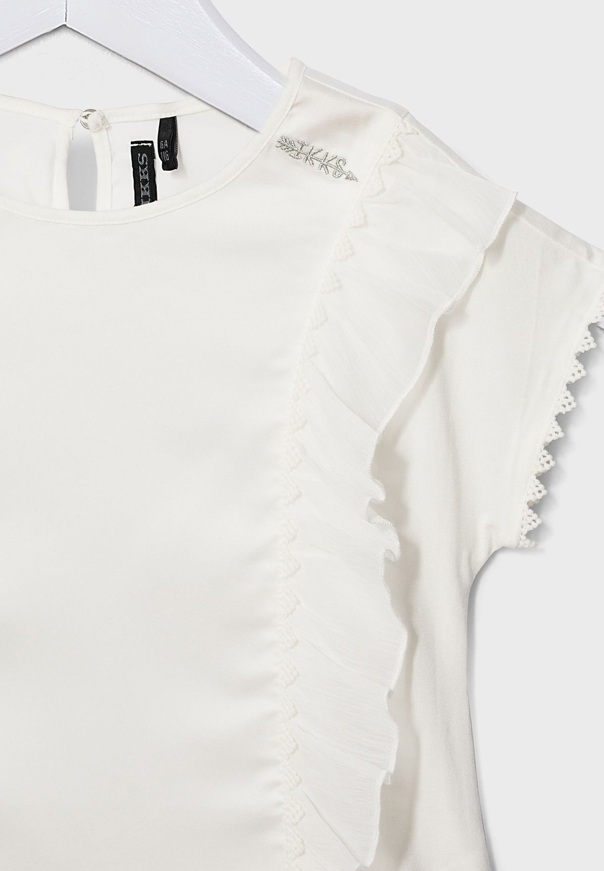 Youth Frill Detail Top