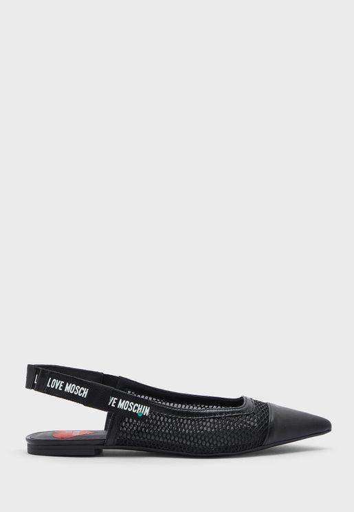 حذاء باليرينا مع سير كاحل