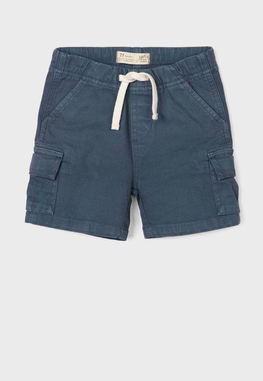 Infant Drawstring Cargo Shorts