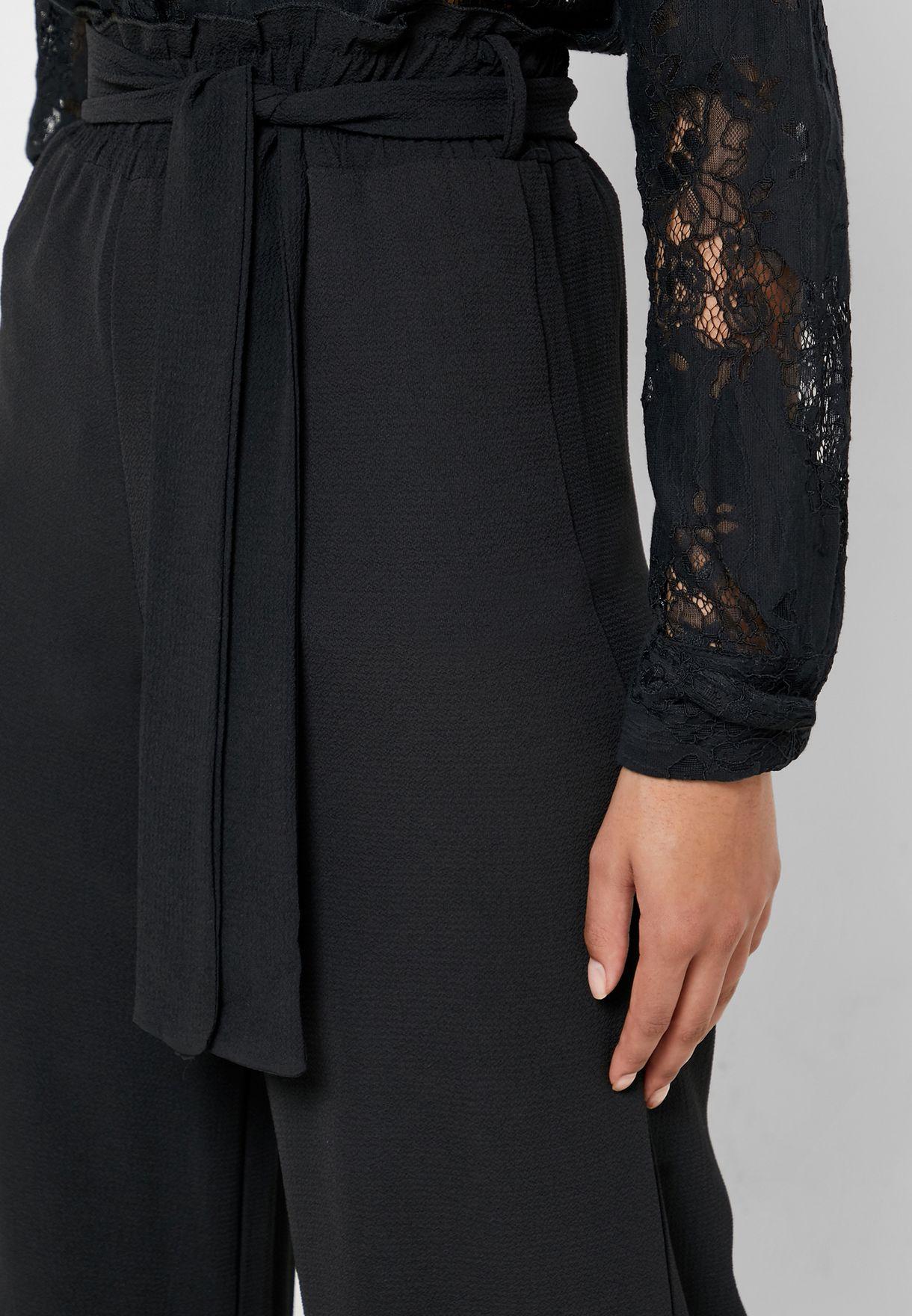 بنطال واسع (كيلوت) باربطة خصر