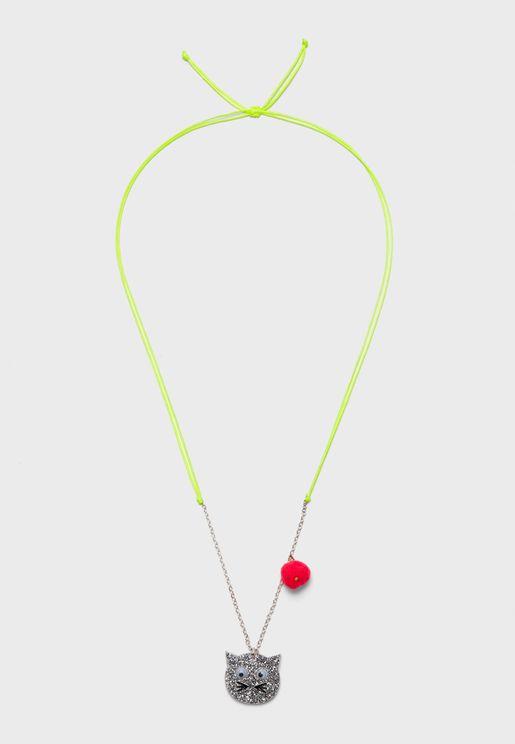 Kids Cat Pendant Necklace