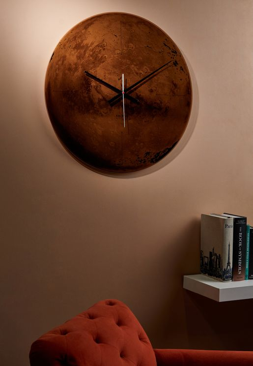 Mars Copper Wall Clock