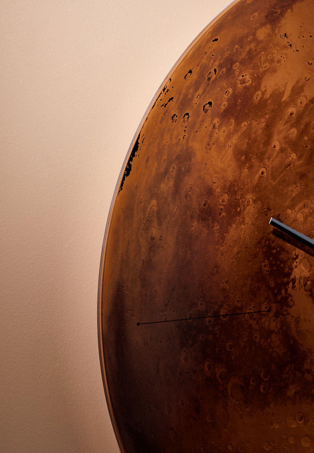 Mars Copper Wall Clock