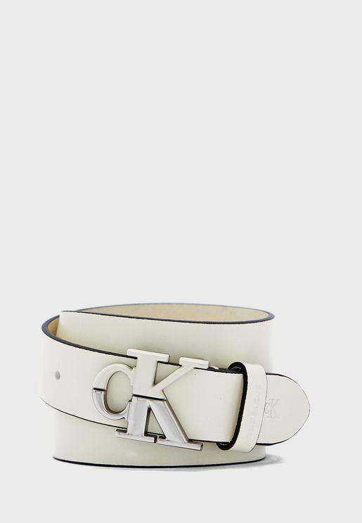 Logo Buckle Belt
