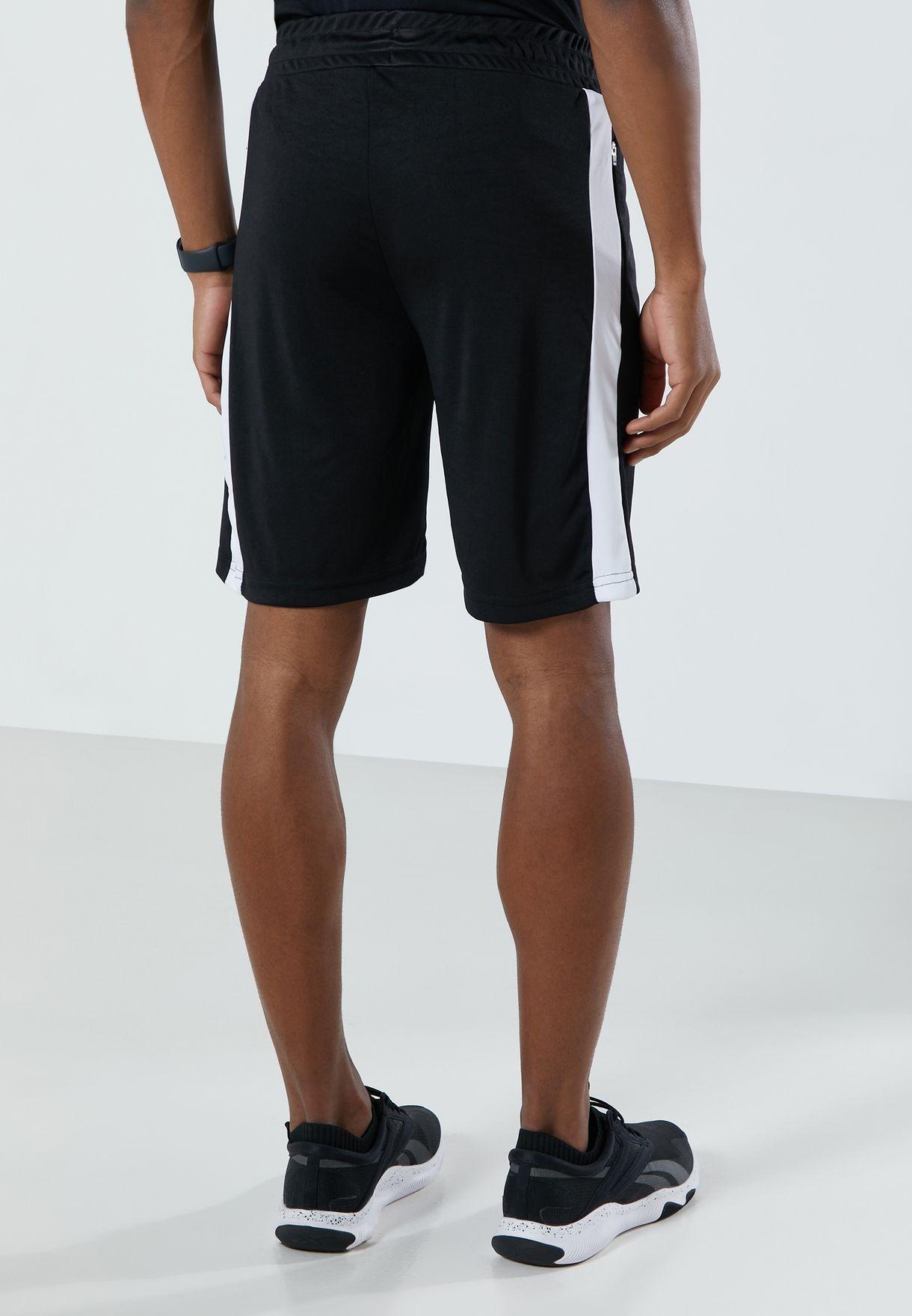 Contrast Panel Sport Shorts