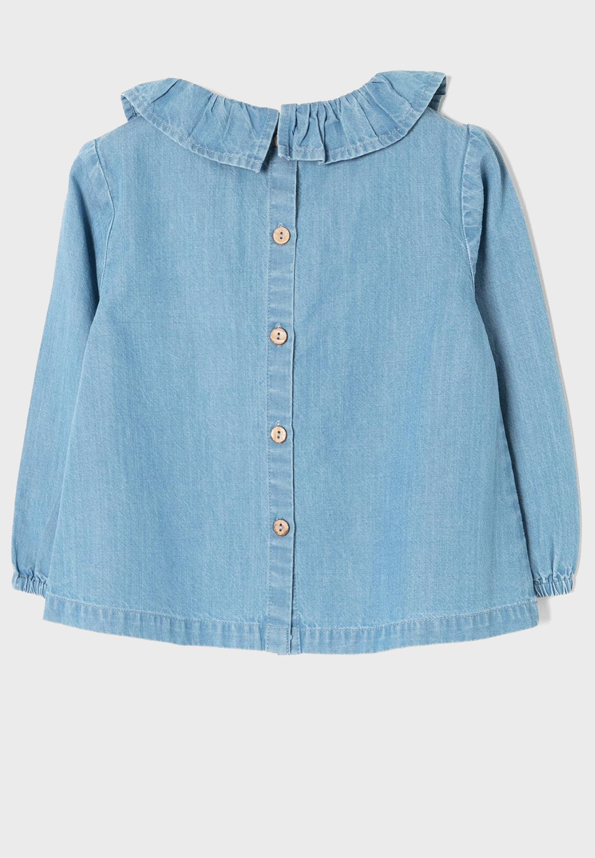 Infant Ruffle Neck Top