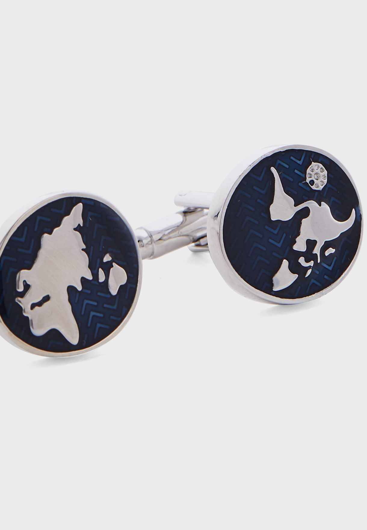 World Map Cuff Links