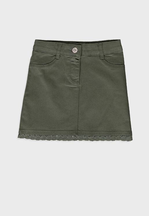 Kids Lace Detail Skirt