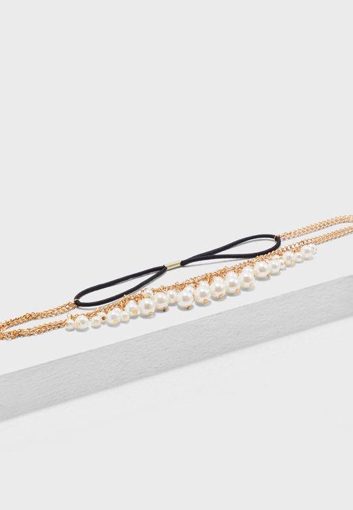 Elasticated Pearl Headband