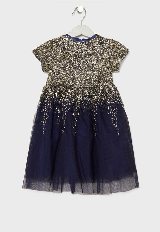 Little Sequin Detail Dress