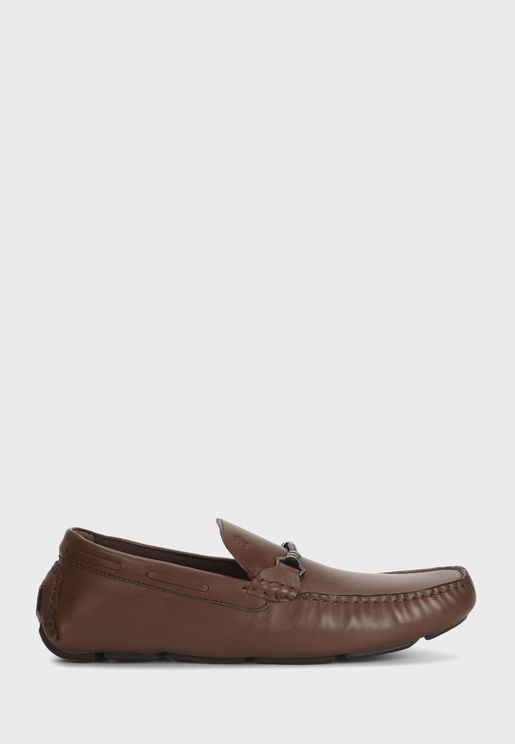 Buckle Detail Moccasins