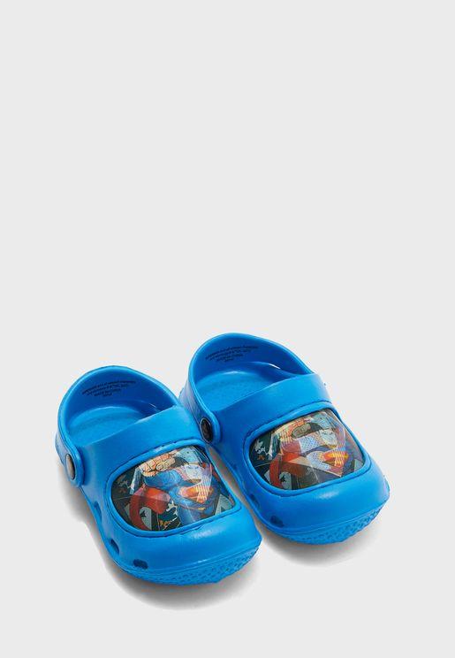 Kids Superman Clog Sandal