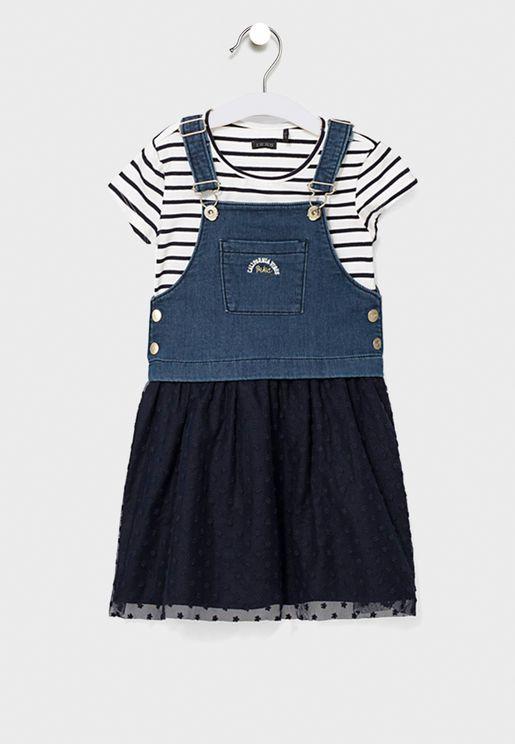 Kids Dungree + T-Shirt Set