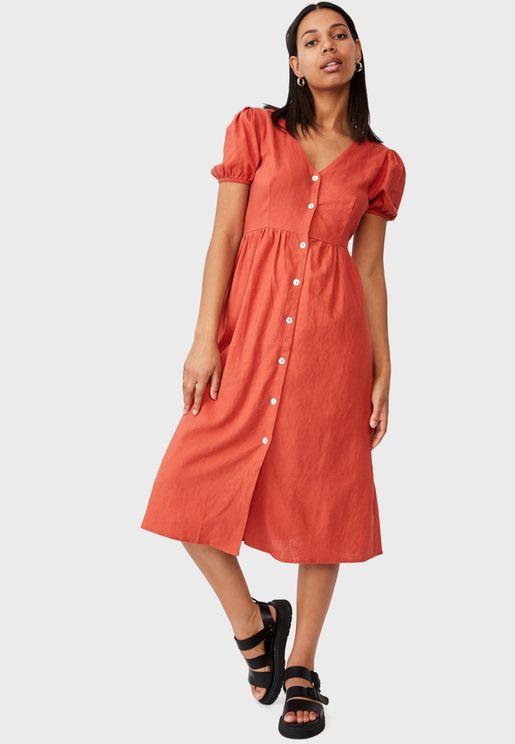 Belloon Sleeve Dress