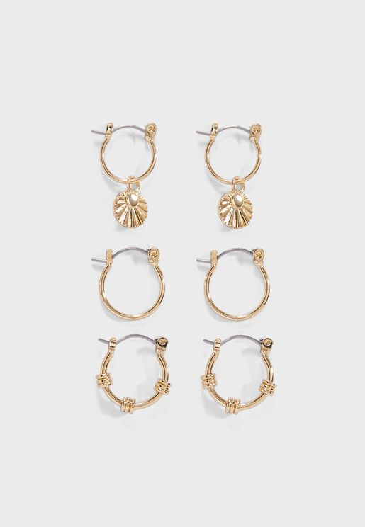 3 Pack Celeste Earrings