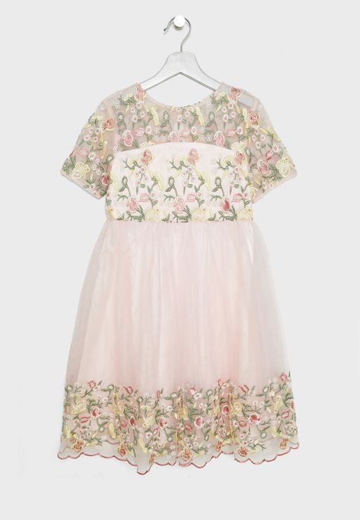 Kids Embroidered Dress