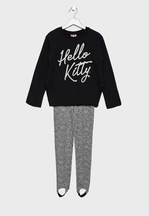 Kids Logo Sweatshirt + Sweatpants Set