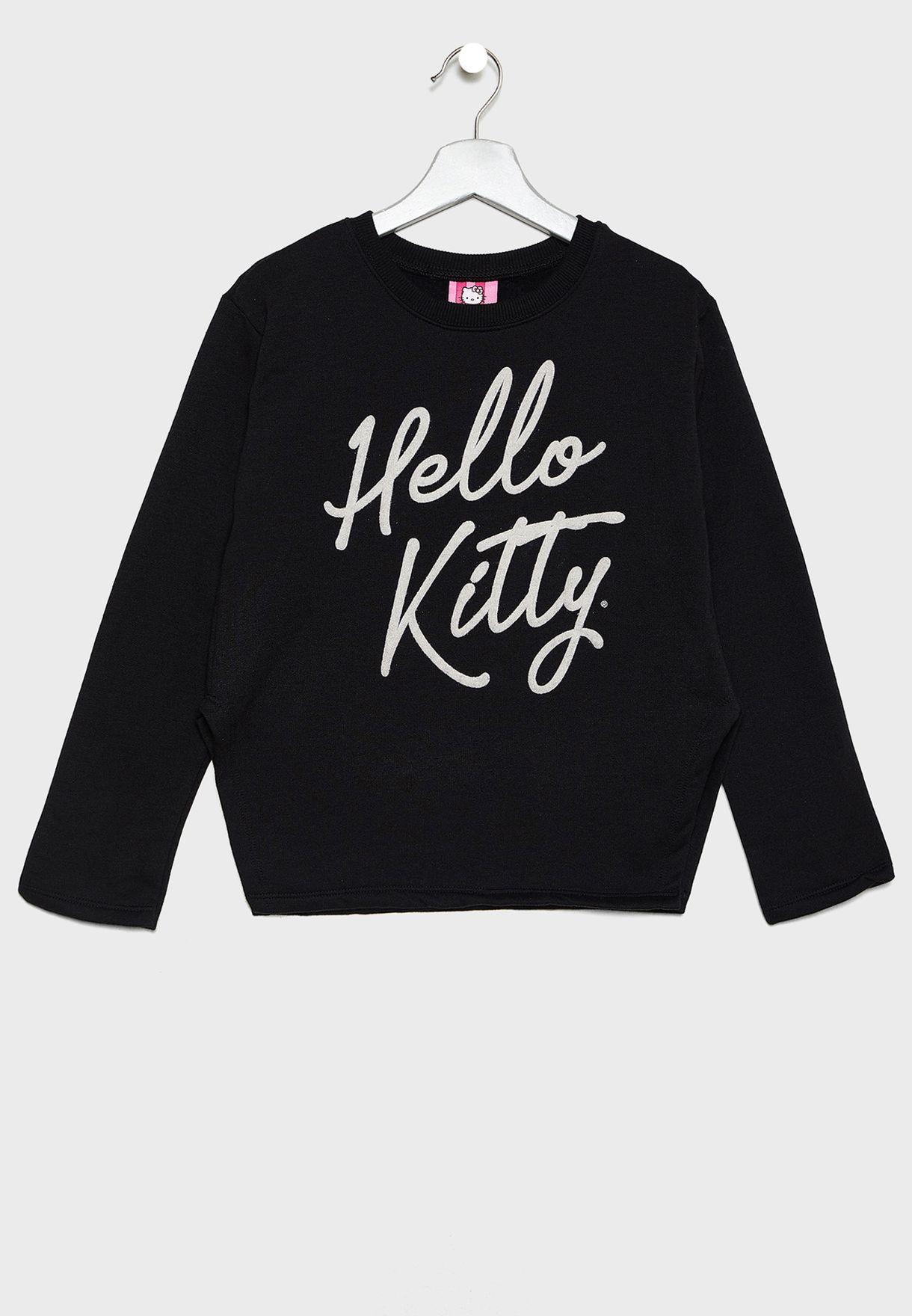 Kids Logo Sweatshirt + Sweatpants Set