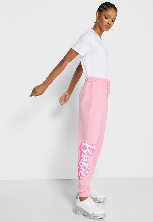 بنطال بطباعة Barbie