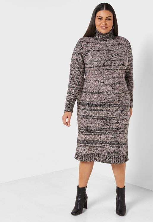 Roll Neck Bodycon Dress