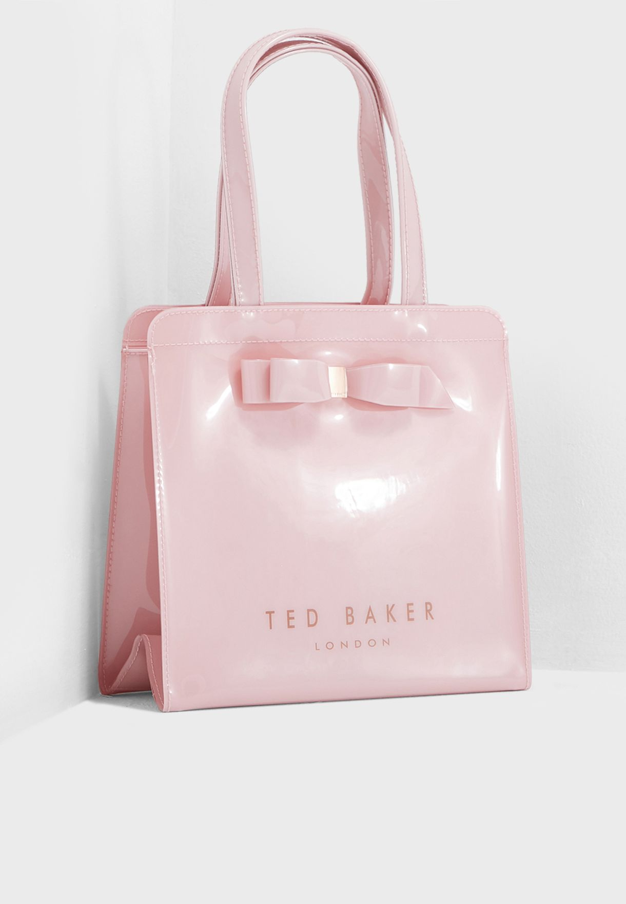 6f56ab0d333e17 Shop Ted baker pink Arycon Bow Detail Small Icon Shopper 151045 for ...