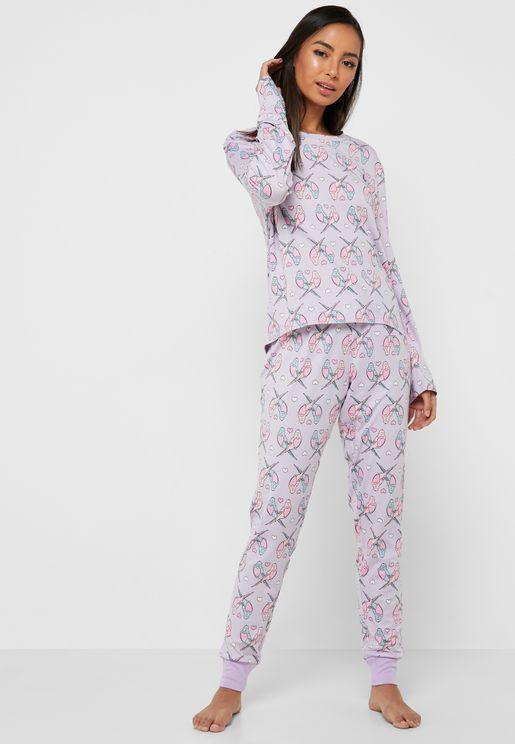 Long Sleeve T-Shirt & Pyjama Set