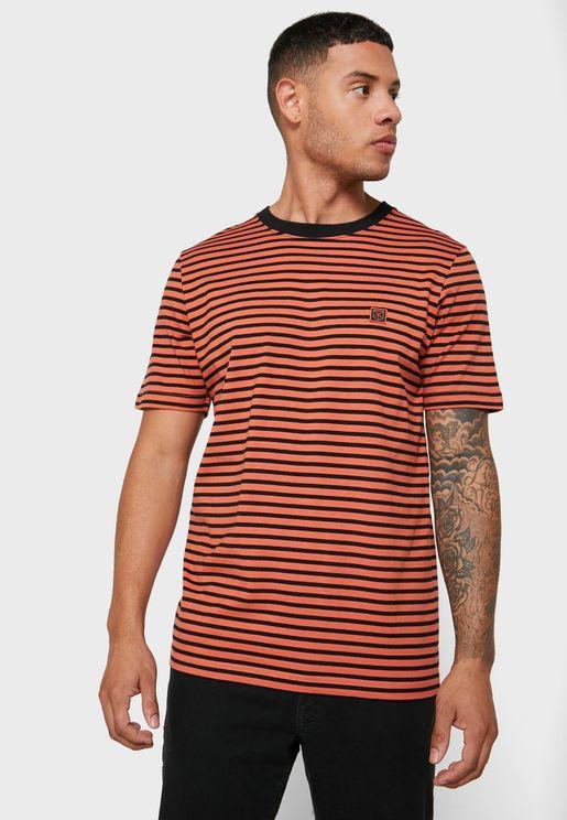 Striped Crew Neck T-Shirt