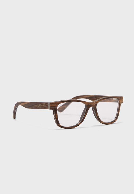 نظارة شمسية وايفيرر بإطار خشبي