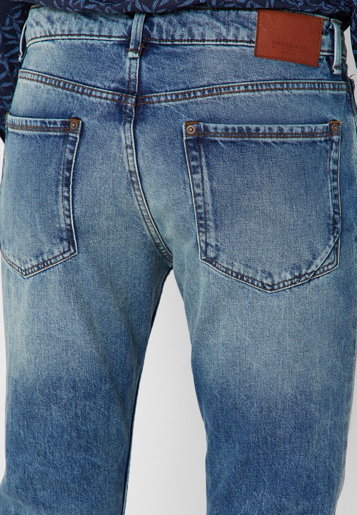 Regular Fit Vintage Wash Bob Jeans