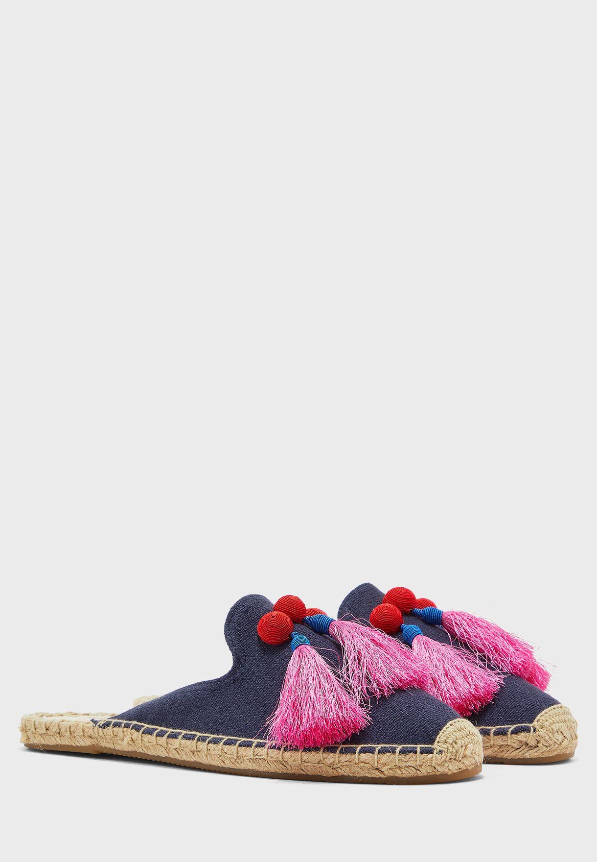 حذاء سهل الارتداء بشراشيب - مدنايت بلو