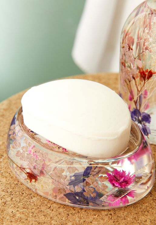 Dahlia Floral Soap Dish