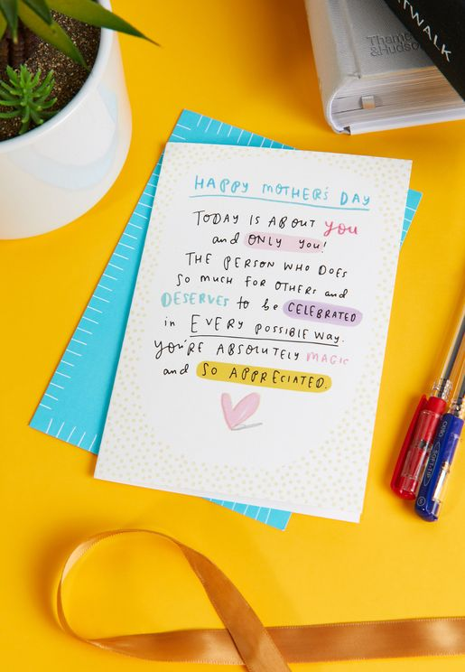 Today Is About You Mother's Day Card