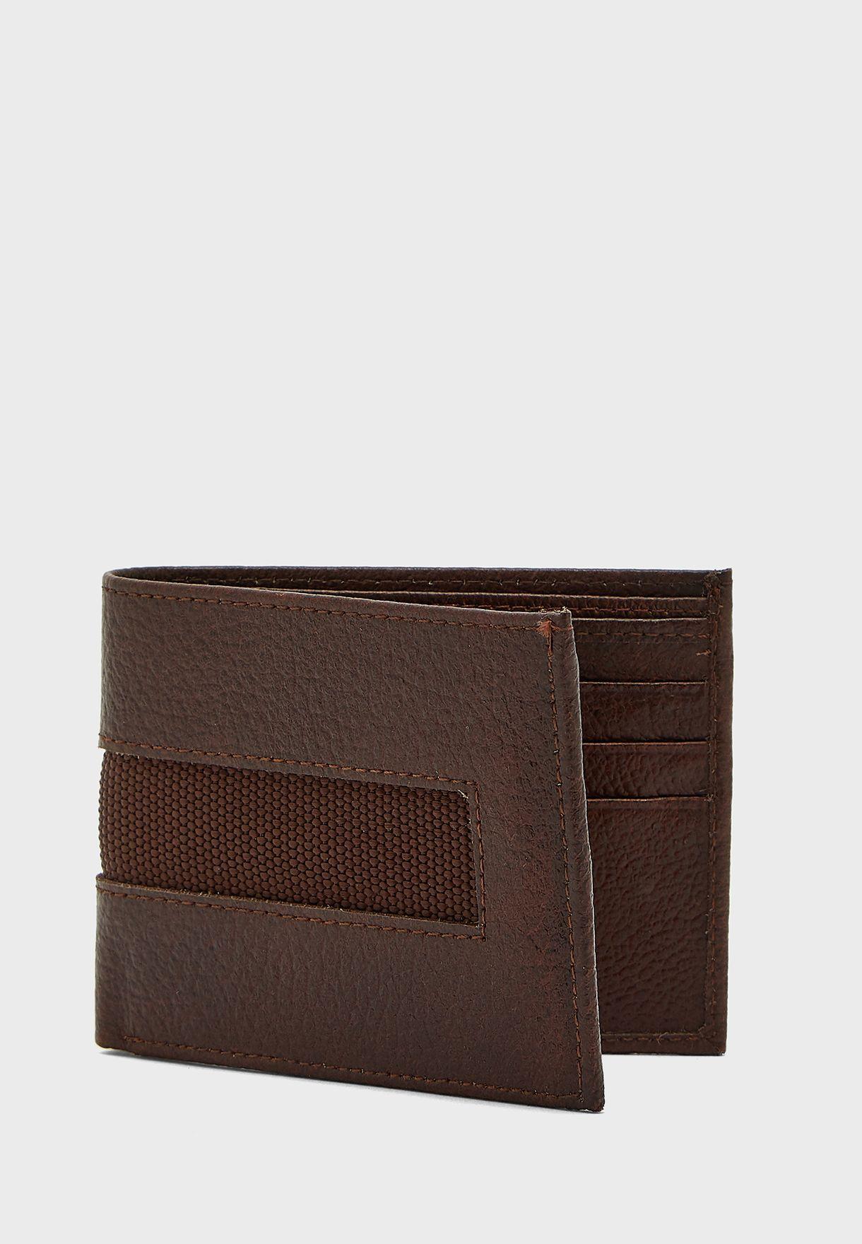 محفظة جلد اصلي محبب