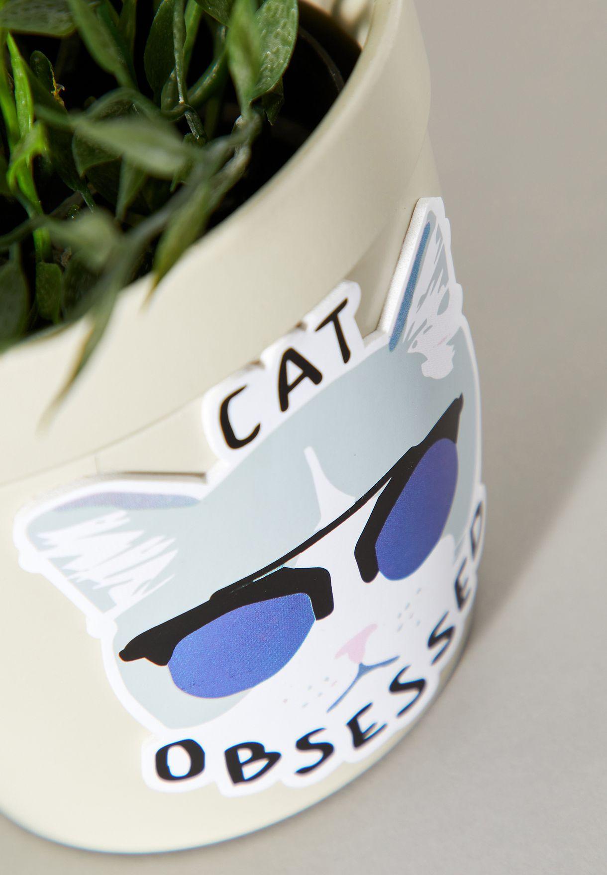 Cat Obsessed Jumbo Sticker
