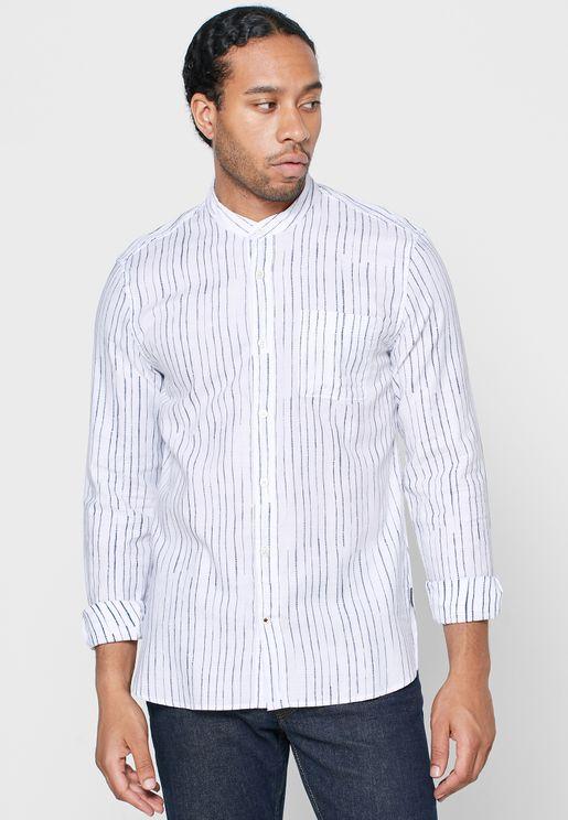 Paul Shibori Striped Regular Fit Shirt