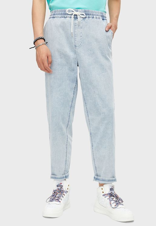 Casual Straight Denim Jeans