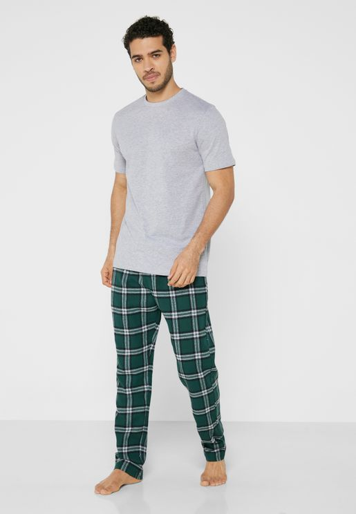 T-Shirt & Checked Pyjama Set