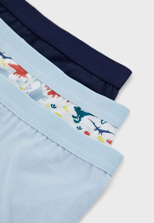 Kids 3 Pack Assorted Boxers