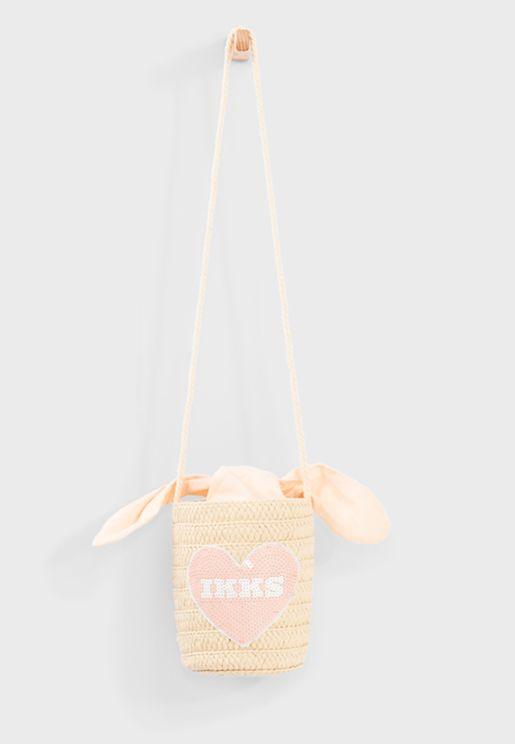 Kids Embroidered Handbag