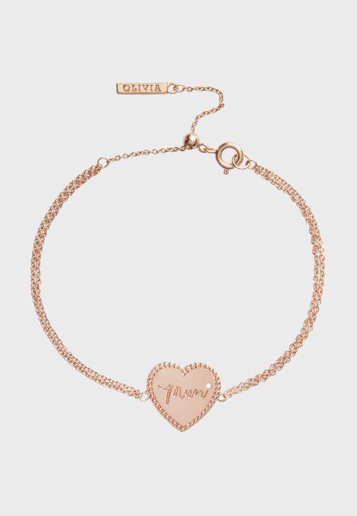 OBJLHB14 Mum Heart Bracelet